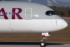 Qatar - A350-941, A7-ALJ (Bernd 2011) Tags: qatar airbus a350 941 a350941 a7alj fra eddf taxiing nose noseshot