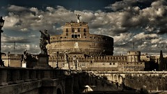 Castel Sant'Angelo (Luc1659) Tags: hdr panorama roma antichità nuvole clouds mausoleo