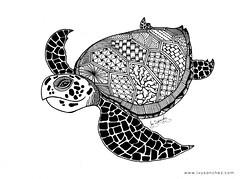 HAWKSBILL TURTLE (ivysanchez14) Tags: art arte artwork artist artoftheday tattoodesign turtle zentangle zendoodle artistonflickr handmade