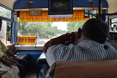 The man sleeping in the bus (yellaw travel) Tags: india inde asie asia matura mathura homme man sleeping dort dormir bus indien seat