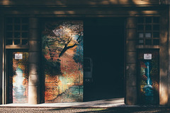 Funchal Doors (freyavev) Tags: funchal door entrance vehicle garage art artondoors urban urbandetails light shade madeira madeiraisland island portugal canon canon700d outdoors vsco fade faded
