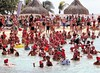 New Year's Dive in Tropical Waters (CosmoClick) Tags: dive curacao newyear sea swim swimming caps cosmoclick tradition