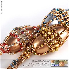 Beaded Bead Lariat (The Manek Lady) Tags: maneklady bead lariat hubble firepolish paper mache necklace