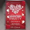 Valentines Party – Premium Flyer PSD Template (psdmarket) Tags: 14february celebrations elegant love loveday romantic valentineparty valentines valentinesday valentinesdaypartyflyer valentinesflyer