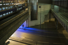 . (Le Cercle Rouge) Tags: paris france night streets darkness light walker train station garedelyon 75012