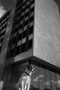Teddy og Høyskolen i Bergen (christiangrevstad) Tags: leica 240 høyskolen bw dog architechture m blackandwhite leicam leicam240 leica240 bergen norway jackrussell terrier pets reflection sky