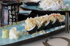Maki Platter 2 (tarek.ghaziri) Tags: canon 80d saudi arabia khobar food platters foodporn japanese healthy soya sauce bokeh depthoffield 50mm background sushi blue plates artistic restaurant ginger wasabi love maki crispy chopsticks