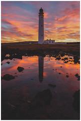 Barns Ness Lighthouse at Sunset-3 (Gordon_Farquhar) Tags: dunbar west barns beach lothian ness lighthouse torness power station scotland scottish east coast