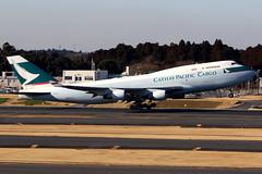 Cathay Pacific Cargo   Boeing 747-400BCF   B-HKX   Tokyo Narita (Dennis HKG) Tags: cathay cathaypacific coa cx cargo freighter boeing 747 747400 boeing747 boeing747400 bcf aircraft airplane airport plane planespotting tokyo haneda bhkx oneworld canon 7d 100400
