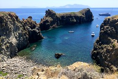 Secret Beach (Kelli Scott) Tags: travel sea italy beach beautiful outdoors beachlife adventure explore panarea