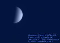 Venus-09June2015-0854pm (Dave Lillis) Tags: irishastronomy shannonsideastronomy