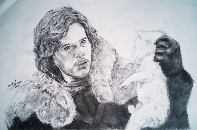 Jon snow drawing Made by mohit kumar rao artist 2015