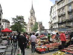Market in Sint-Gillis with Sint-Gillis church (Joop van Meer) Tags: market 2015 sintgillis gr12 sintgillisvoorplein sintgillischurch