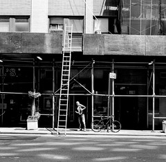 ladder (HashBatt.) Tags: street new york sky people blackandwhite white streetart newyork black colour building art cars car wall architecture brooklyn america buildings subway island photography graffiti paint bronx manhattan flag streetphotography bridges police nypd cadillac graffity queens fireman trucks walls oldcar staten goodtimes skycraper colourfull 2015 youngphotographer peopleinthestreet goodphotography