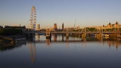 London Heatwave Dawn 11 (ianwyliephoto) Tags: london weather june sunrise dawn housesofparliament londoneye bigben millenniumbridge southbank riverthames hungerfordbridge heatwave 2015 portoflondonauthority elizabethtower