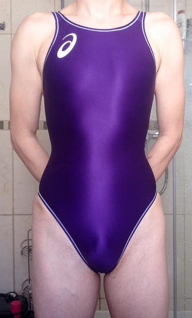 purple asics swimsuit splashers als429
