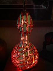 Craft jewelled gourd light (JAMES @ studio 136) Tags: light red gourds british jewels sales selling