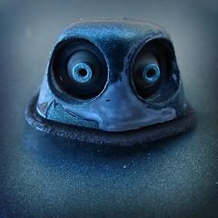 Frog Eyes (arbyreed) Tags: face metal closeup mouth pareidolia nose eyes close hmm facesinobjects macromondays arbyreed
