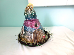 Sand Fairy House http://playsculptlive.blogspot.ca/2015/07/watch-out-for-fairies.html (playsculptlive) Tags: house polymerclay nightlight fairies pcagoe playsculptlive
