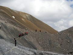 """Scree ridges outside Camp 1 • <a style=""""font-size:0.8em;"""" href=""""http://www.flickr.com/photos/41849531@N04/19833705244/"""" target=""""_blank"""">View on Flickr</a>"""