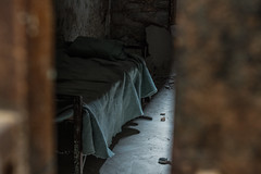 (leahlaurinda) Tags: abandoned philadelphia bed ruin cell prison jail easternstatepenitentiary
