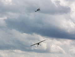 Dogfight! (Al Henderson) Tags: old aviation bedfordshire collection airshow warden shuttleworth raf gladiator gloster storch luftwaffe shuttleworthcollection oldwarden fieseler fi156 k7985 gstch