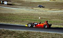 1992 - Walter Epple driving his Haggis U2 racecar [73] during a West Australian Sporting Car Club (WASCC) tuning day at Wanneroo Raceway, Neerabup, Wanneroo, Western Australia (aussiejeff) Tags: clubman racer racecar motorracing carracing barbagallo wanneroo wa australia tuningday jeffc aussiejeff walterepple haggis u2 wascc red 73