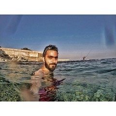 When you capture that feeling after a decent dive. #Beard #GoPro #GoProHero #GoProOfTheDay (Waelboy) Tags: square squareformat iphoneography instagramapp uploaded:by=instagram