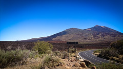 Road To The Volcano (jamesromanl17) Tags: landscape volcano road view panorama spain landscapes hot tenerife panoramic sign dry volcanic