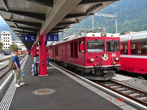 Bernina-Express in station of Tirano