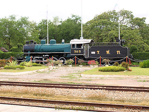 Old Steam Engine on display at Hua Hin Railway Station in 2010,Hua Hin, Prachuap Khiri Khan Province, Thailand.