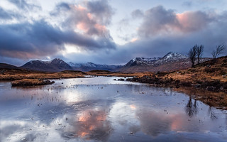 Last Light at Lochan na Stainge