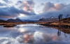 Last Light at Lochan na Stainge (Stoates-Findhorn) Tags: 2017 blackmount clouds dusk glencoe ice lochaber lochannastainge rannochmoor scotland snow sunset winter reflections unitedkingdom
