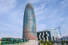 Agbar Tower in Barcelona, Spain (A. Aleksandravičius) Tags: agbar architect architecture attraction barcelona blue building business capital catalunya center city cloud colors company construction design district facade famous financial high horizontal landmark modern new office skyscraper spain street structure torre tourism tower travel urban