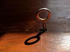 (lunat1k) Tags: key ring shadow reflection light warm wood nexus5x