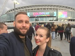 Minutes before Coldplays concert at Wembley, London.
