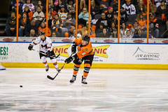 "Missouri Mavericks vs. Quad City Mallards, December 31, 2016, Silverstein Eye Centers Arena, Independence, Missouri.  Photo: John Howe / Howe Creative Photography • <a style=""font-size:0.8em;"" href=""http://www.flickr.com/photos/134016632@N02/31972630951/"" target=""_blank"">View on Flickr</a>"