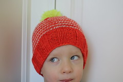 Neon Stripey Hat (CaitlinD) Tags: ravelry
