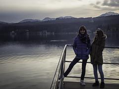 L'orologio di un padre (Lumase) Tags: sara irene sisters youth smile love daughters lake dusk sunset girls avigliana