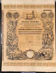 ELETTRO - TESSITURA SOC. AN. DELL' (scripofilia) Tags: 1854 azioni elettro elettrotessitura tessitura