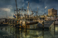 Lets Go Fishing (Jims_photos) Tags: water texas outdoor outside adobelightroom adobephotoshop shadows sunnyday daytime docks fishingboat gulfofmexico jimallen lightroom texascoast cloudy clouds coastalscene corpuschristitexas boats nopeople nikon7100 morninglight
