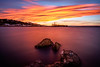 Rock you long time (ajecaldwell11) Tags: sunset ankh water foehn light trees hawkesbay newzealand napier tide longexposure sky rocks ahuriri caldwell dusk clouds