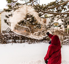 Throwing Boiling Water At Minus 21C (James P. Mann) Tags: winter windchill 21c throwing boiling water air moncton new brunswick freezing