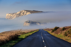 Freezing Fog on a Sunny Winters Day - IMG_6286 (s0ulsurfing) Tags: s0ulsurfing 2016 december isle wight winter freezing fog freshwater bay weather weird road tarmac