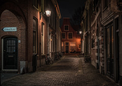 Haarlem streets (urbanexpl0rer) Tags: haarlem nederland holland noordholland thenetherlands netherlands street streetphotography streetlights buildings residentialbuildings bikes night nightphotography longexposure