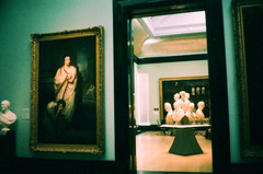 Two Rooms (oh it's amanda) Tags: ricohff1 london londonengland nationalportraitgallery museum 35mm xpro crossprocessed fujisensia400 expiredfilm expirationdateunknown