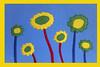 Flowers on blue (Eli Rolandova) Tags: flowers childrensflowers happyflowers nurseryroomprint childrensprint happyprint flowersprint freewallpaper freecards