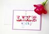 I like you handmade greeting card-4 (roisin.grace) Tags: etsy etsyshop etsyseller etsyhandmade etsyfinds greetingcards greetingcard handmade handpainted handmadecards handpaintedcards valentinesday valentines valentinescard love lovecards