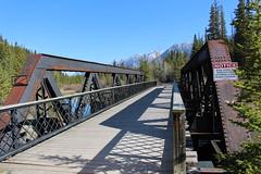 Bow River Railroad Bridge (Canmore, Alberta) (cmh2315fl) Tags: canada alberta banff railroadbridge canmore cpr bowriver canadianrockies canadianpacificrailway trussbridge ponytruss canadianbridge warrentruss warrenponytruss