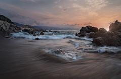 Maritime of chaos (Jhovany (XEL)) Tags: life travel sunset sea sky clouds canon wonderful landscape photography sand rocks waves horizon vallarta puertovallarta moment 6d solors